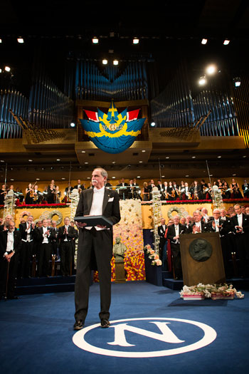 David J. Wineland after receiving his Nobel Prize at the Stockholm Concert Hall