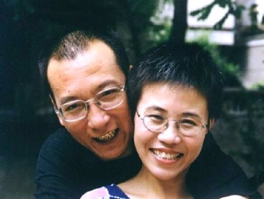 Liu Xiaobo and his wife, Liu Xia