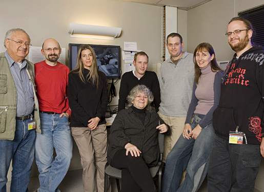 Professor Ada Yonath with some members of her team