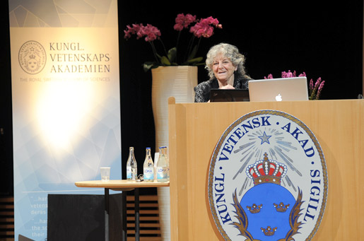 Ada E. Yonath delivering her Nobel Lecture