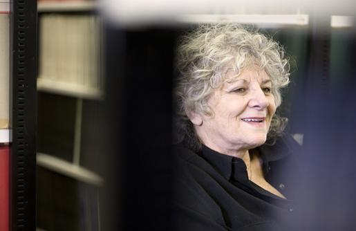 Professor Ada Yonath in the Weizmann Institute library.
