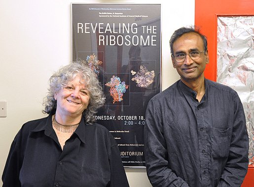 Ada Yonath and Venkatraman Ramakrishnan in Cambridge, United Kingdom