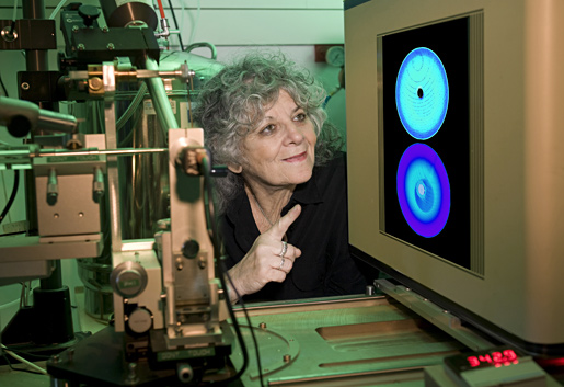Ada E. Yonath with x-ray diffraction equipment