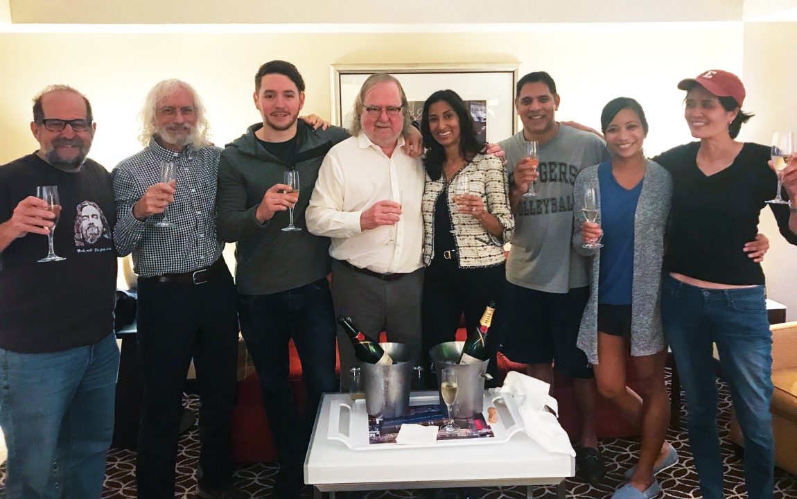 Friends and family celebrate James P. Allison's Nobel Prize
