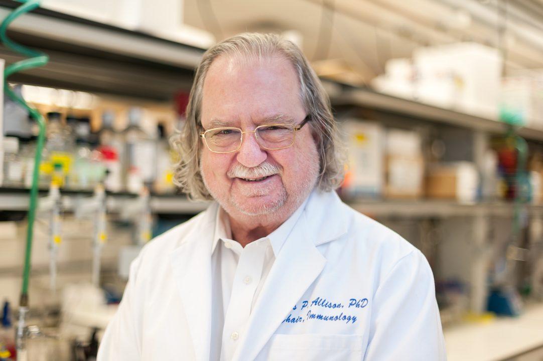 James P. Allison in his laboratory.