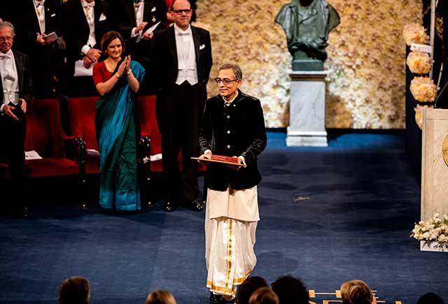 Abhijit Banerjee after receiving his Nobel Prize