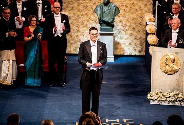 Didier Queloz after receiving his Nobel Prize