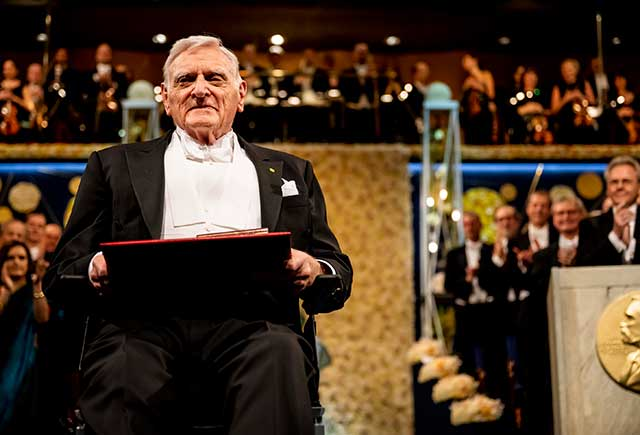 John B. Goodenough after receiving his Nobel Prize
