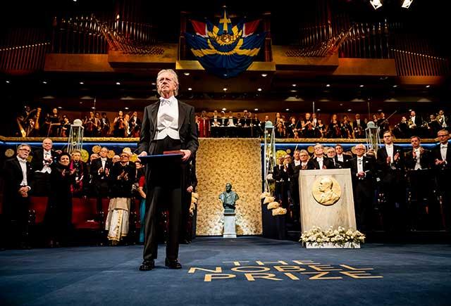 Peter Handke after receiving his Nobel Prize