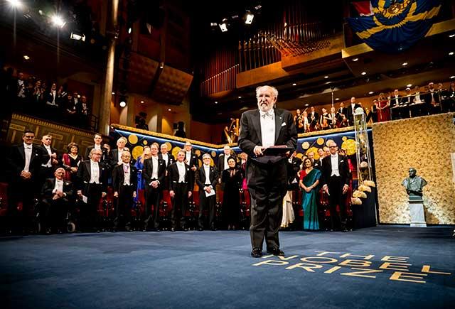 Michel Mayor after receiving his Nobel Prize