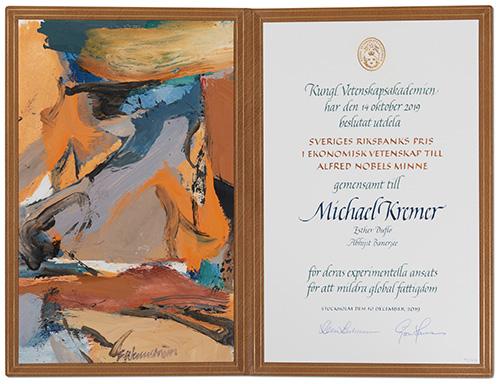 Michael Kremer - Nobel diploma