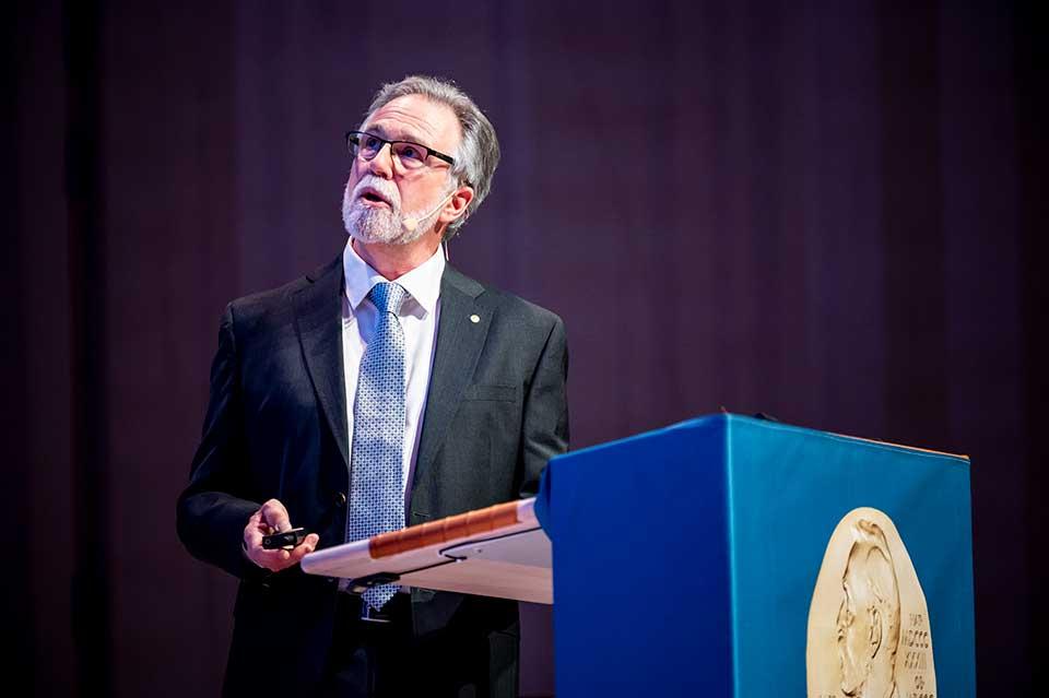 Gregg L. Semenza delivering his Nobel Lecture