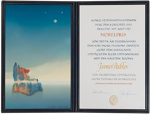 James Peebles - Nobel Diploma