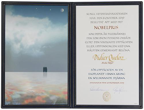 Didier Queloz - Nobel Diploma