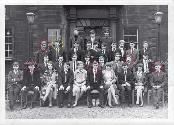Class photo from Boroughmuir