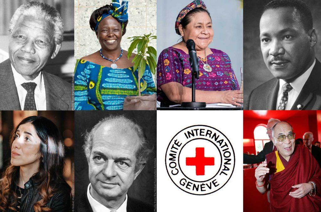 Peace prize laureates collage
