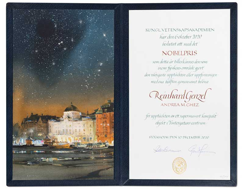 Reinhard Genzel Nobel Diploma