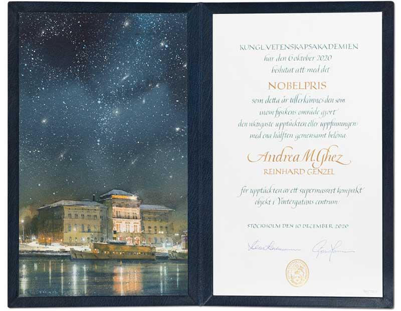 Andrea Ghez Nobel Diploma