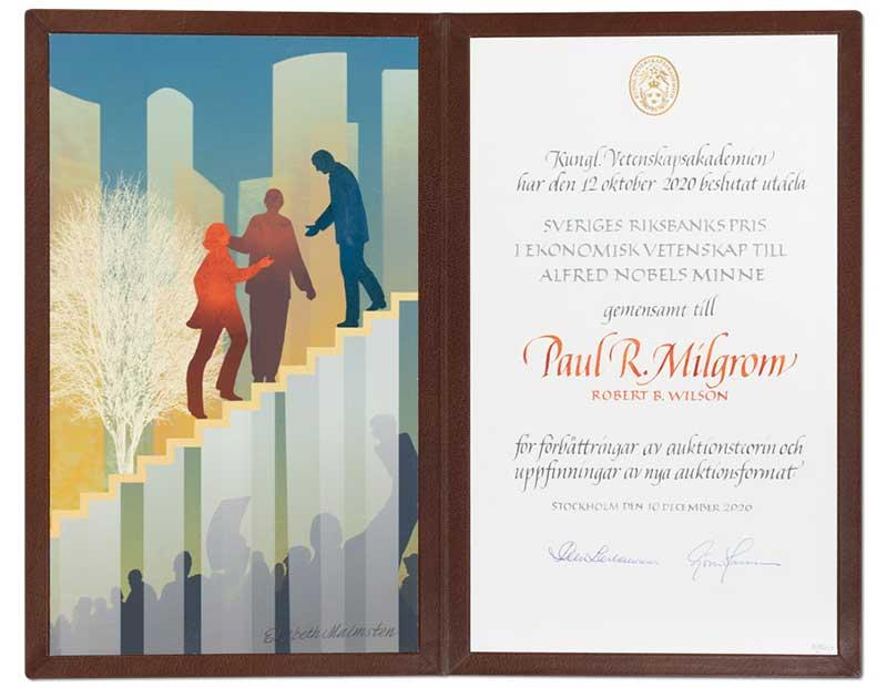 Paul R. Milgrom's Nobel Diploma