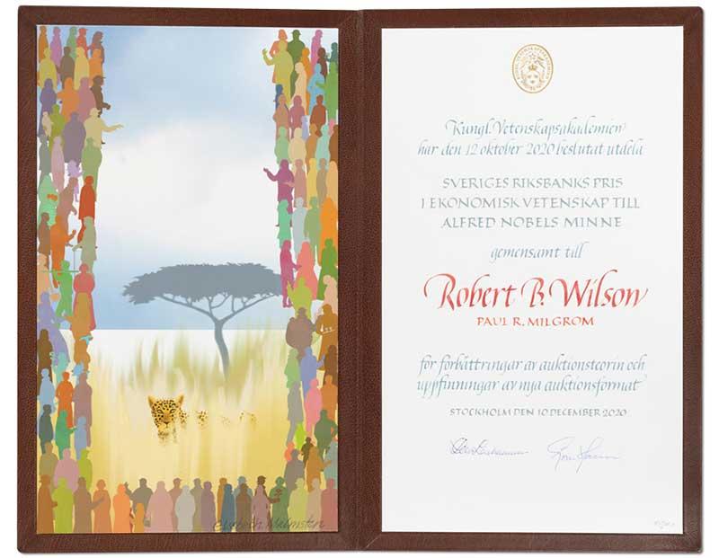 Robert B. Wilson's Nobel Diploma