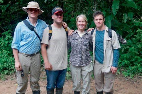 William, James, Frances, Joseph in the Peruvian Amazon