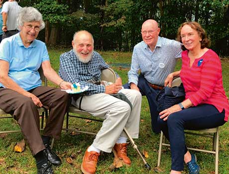 Arthur and his wife, Aline, Bob Wilson and his wife Betsy