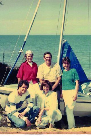 Strickland family sailing