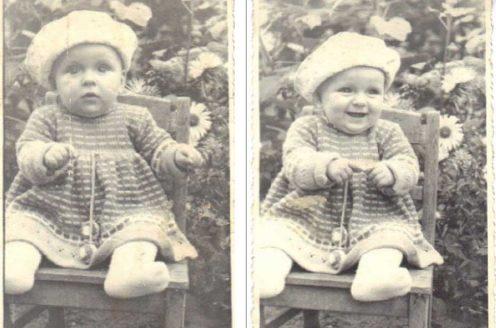 Olga Tokarczuk as child