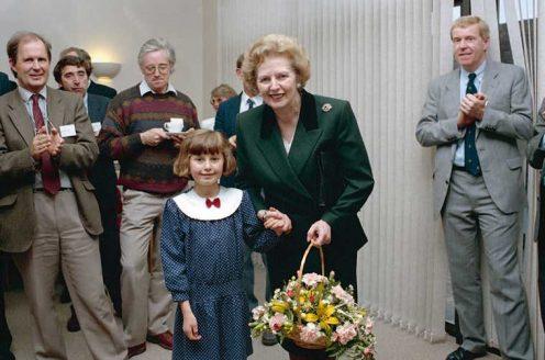 Caroline Winter (GW daughter) and Margaret Thatcher