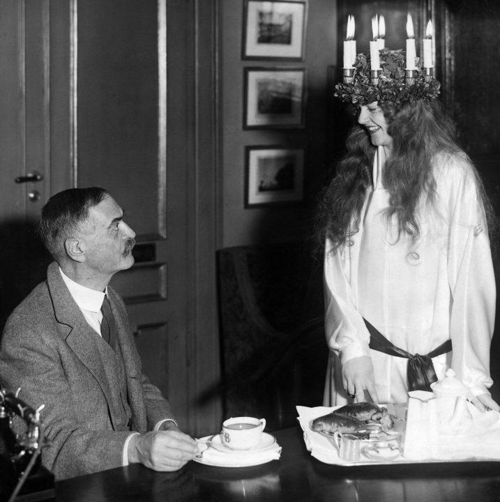 Karl Landsteiner celebrating the Swedish festival of Lucia