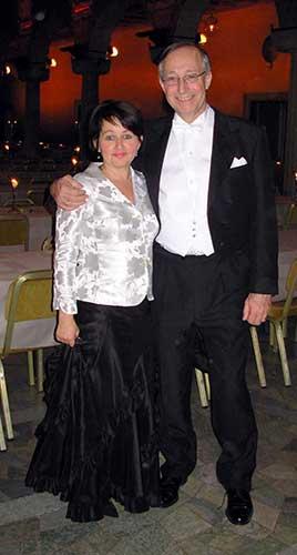 Paul Milgrom and wife Eva